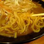 麺匠玄龍の味噌ラーメンの麺
